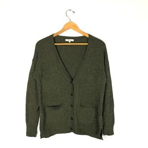 MADEWELL Green Wool Cardigan Sweater   Size: S